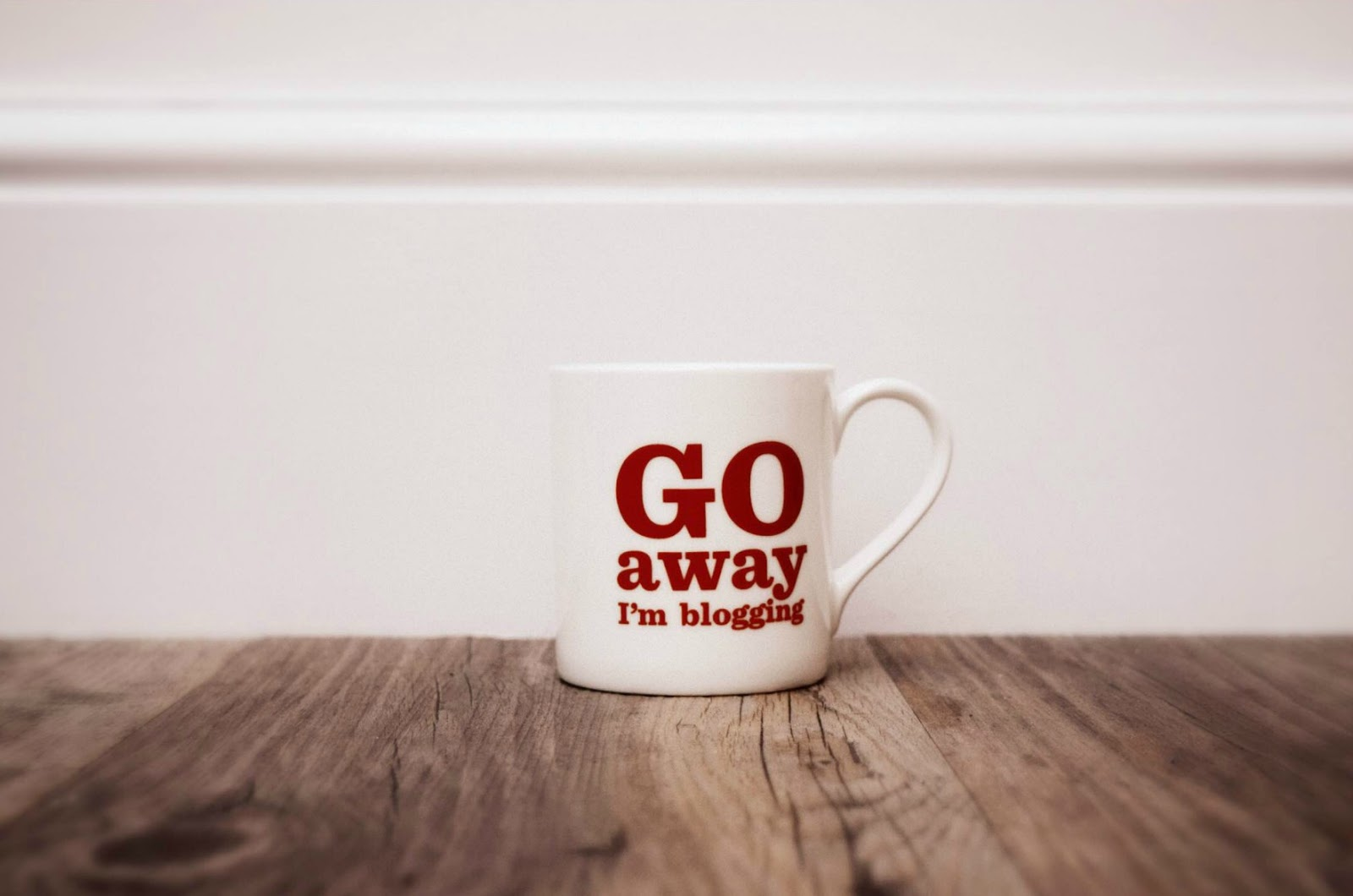 Go Away I'm Blogging Mug
