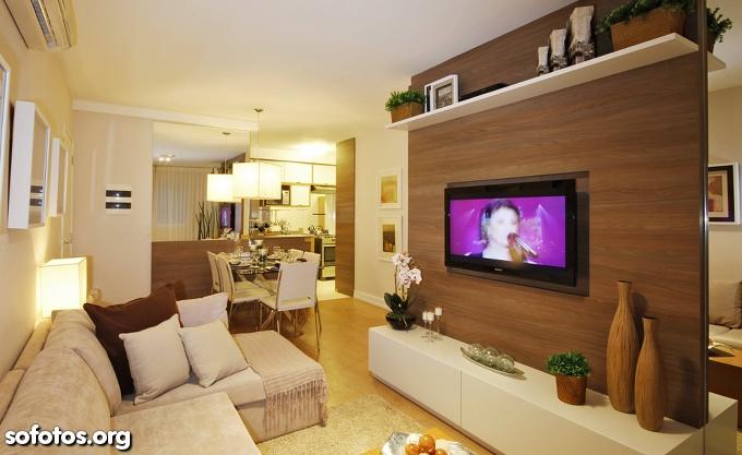 Construindo minha casa clean consultoria de decora o for Salas de estar modernas y pequenas