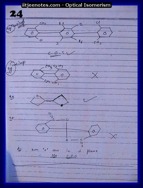 Optical Isomerism Notes 7