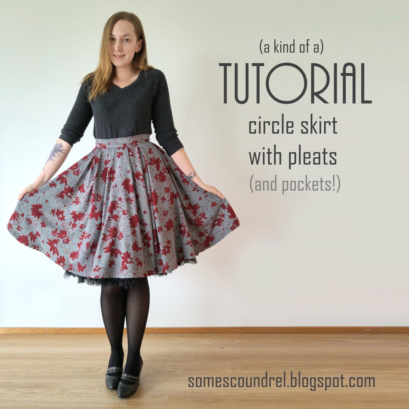 Sew Scoundrel: A circle skirt that's also pleated (a kind ...