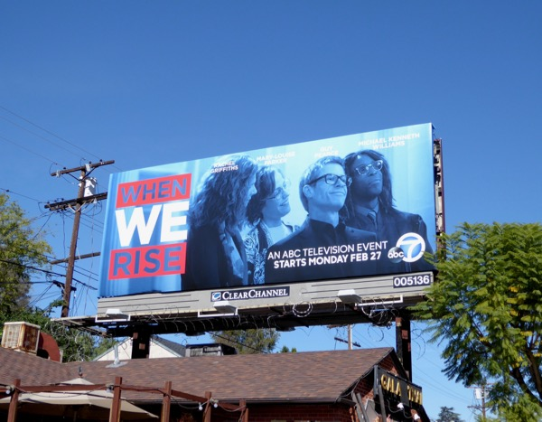 When We Rise series launch billboard