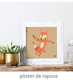 pôster de raposa | espanta-papão