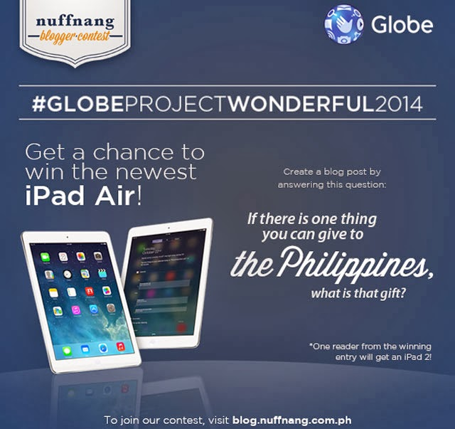 Win an iPad Air! Join Globe and Nuffnang Blogger Contest