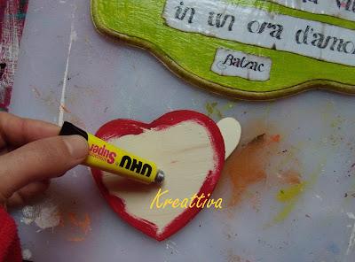 incollare cuore scrapbooking