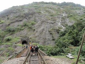 Tunnel drilled through monolith, Dudhsagar water falls trekking