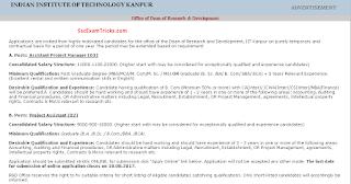 IIT Kanpur Recruitment 2017
