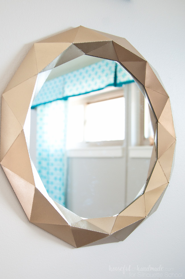 silhouette cameo, anthropologie mirror, knockoffs, paper metal