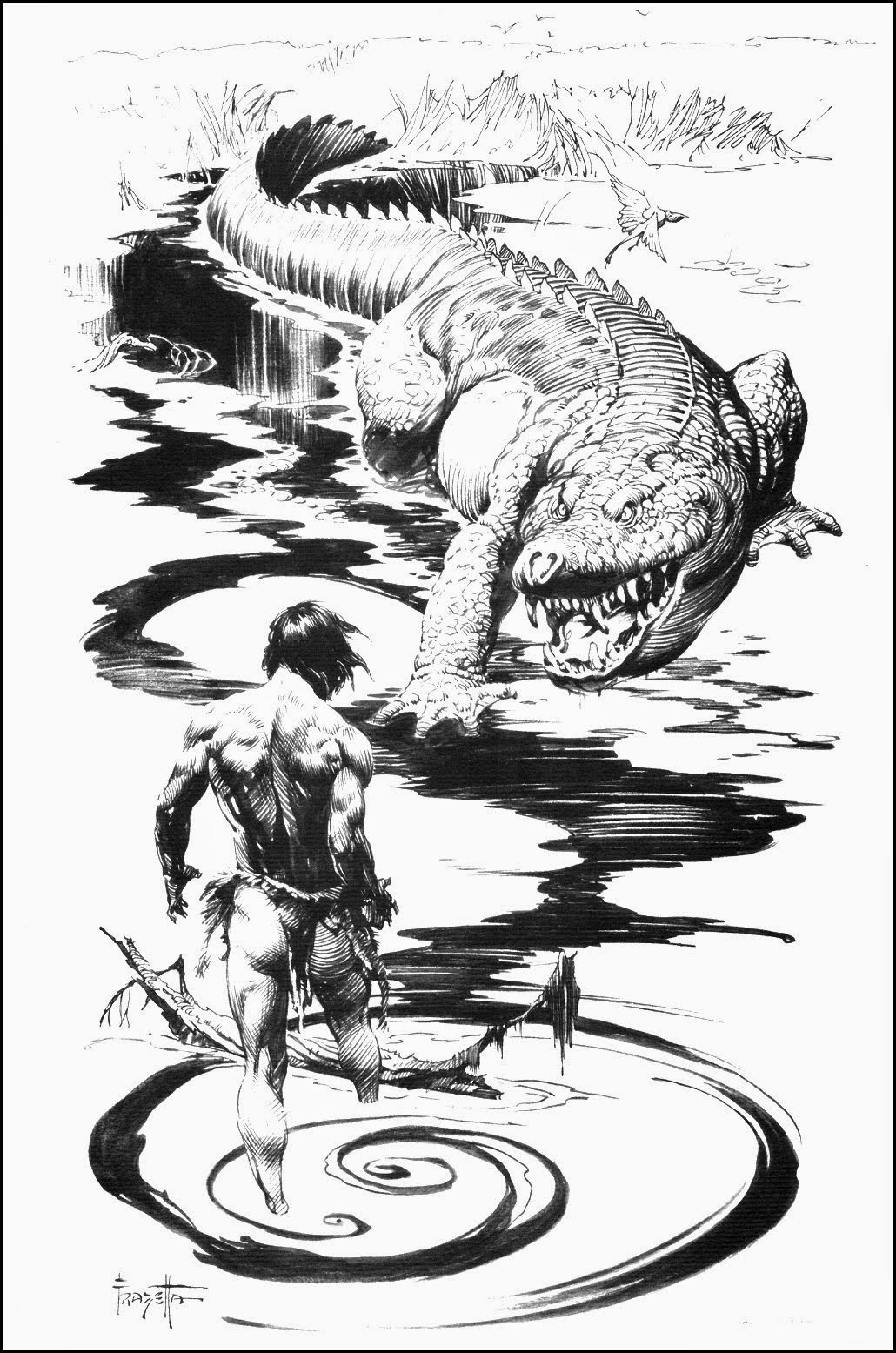 Cap N S Comics At The Earth S Core With Frank Frazetta