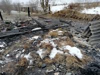 (ФОТО)Пожар в селе Знаменское, ул. Калинина, д. 18