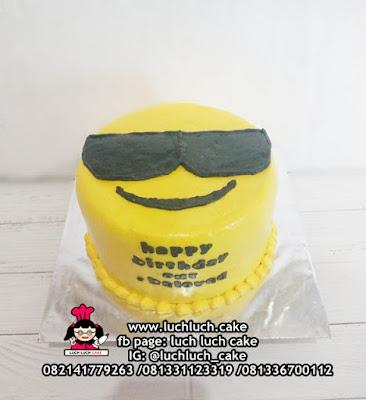 Birthday Cake 'COOL' Emoticon