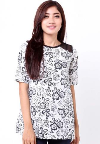 Blus Batik Wanita Modern Yang Cantik Dan Elegan
