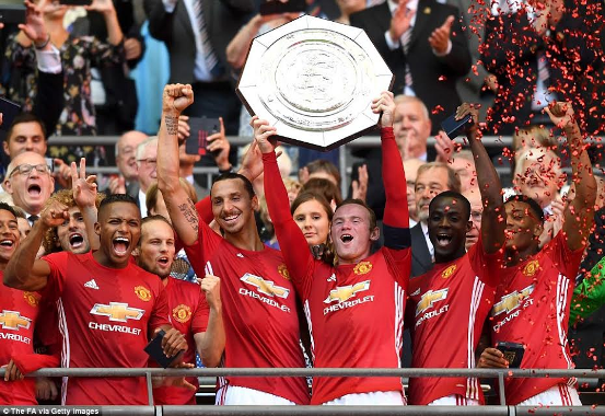 Community Shield: Jose Mourinho and Zlatan Ibrahimovic win first trophy of Man U career after 2-1 win over Leicester (see photos)