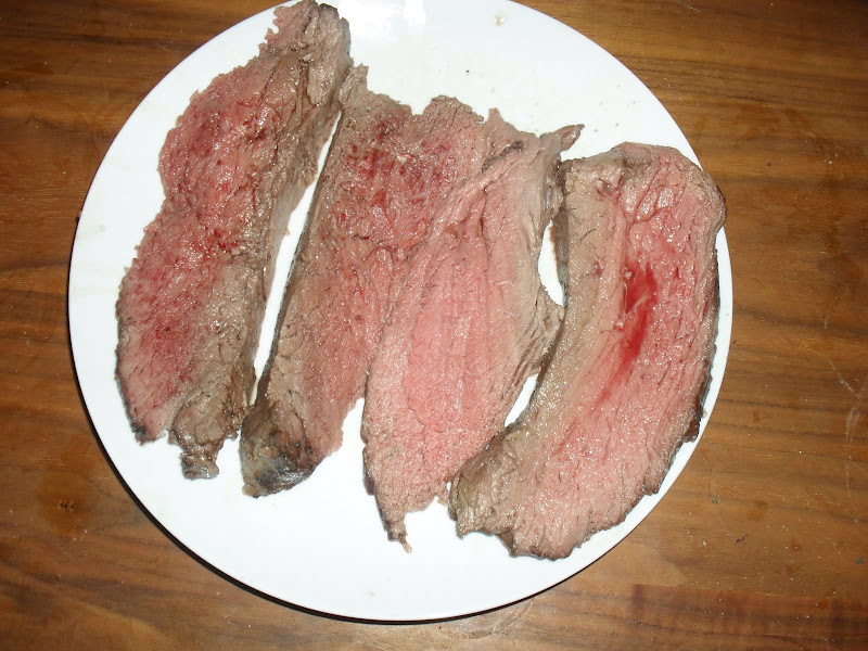 Plate with roast beef