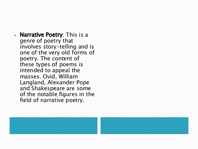English Literature : Different Types of Poetry