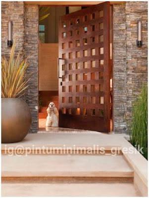 Model Pintu Kayu Jati Terbaru Minimalis dan Elegan