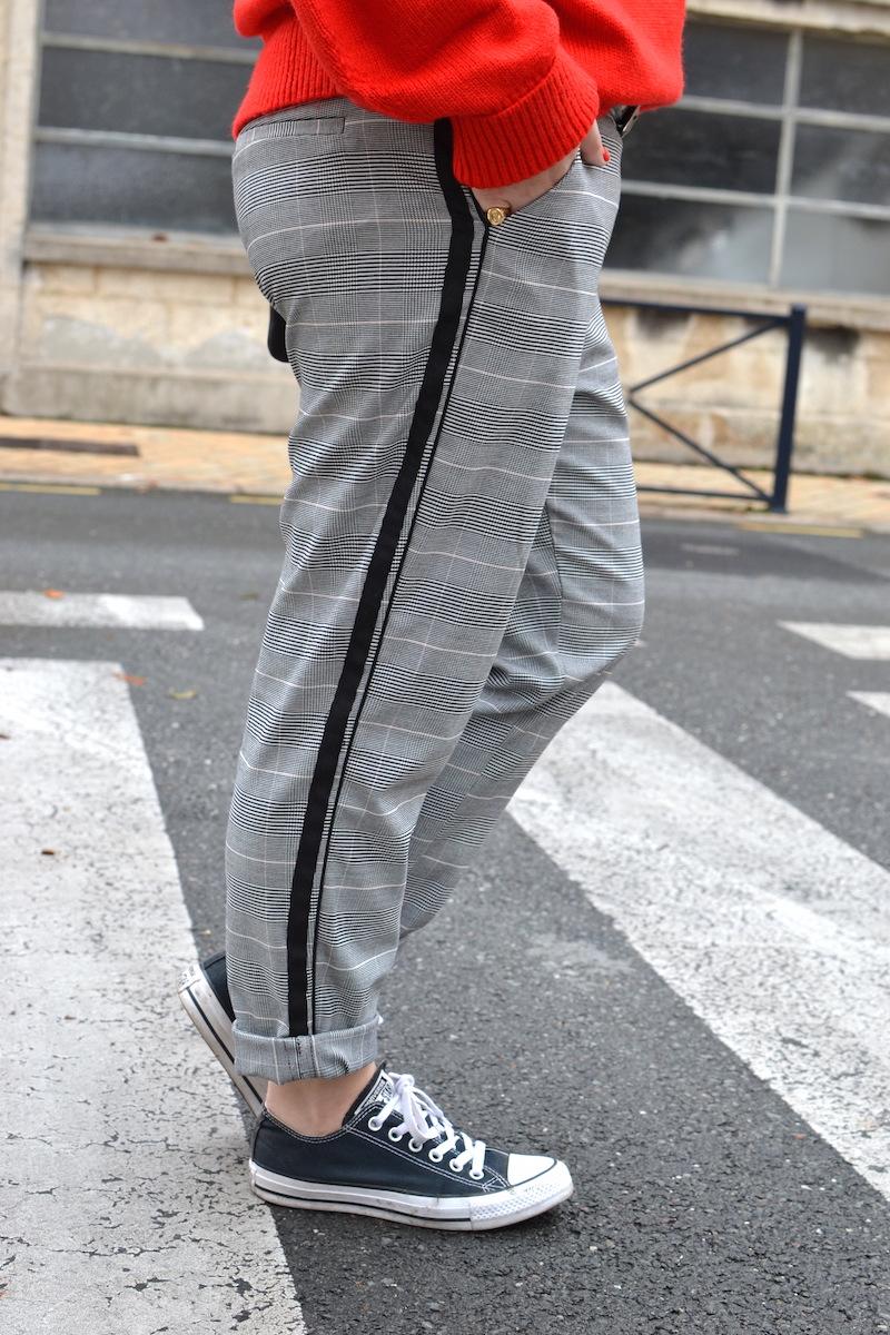 pantalon prince de galles Zara