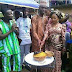 Recession? See what a couple used as Wedding cake at their reception
