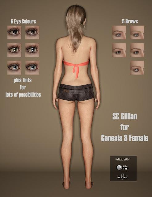 SC Gillian for Genesis 8 Female