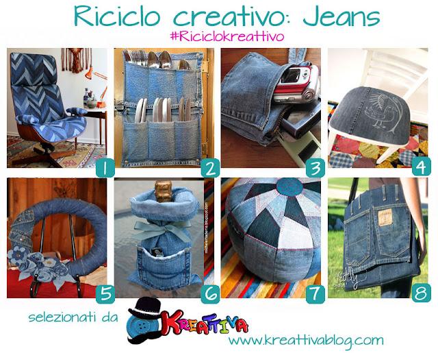 16 idee per riciclare i jeans kreattivablog for Fai da te creativo