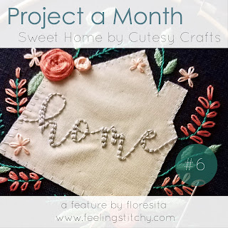Project a Month 6 - Sweet Home Ebook by Cutesy Crafts a feature by floresita for Feeling Stitchy