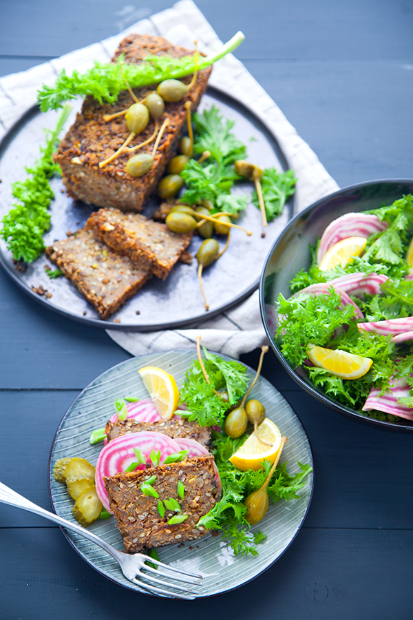 lentil loaf, pain de viande vegan, cuisine vegan