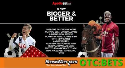 BETS (SeanieMac Ltd.) - New Platform Launch & Celeb. Endorsements - Establishes the Company in The £5.4 Billion U.K. Gambling Industry