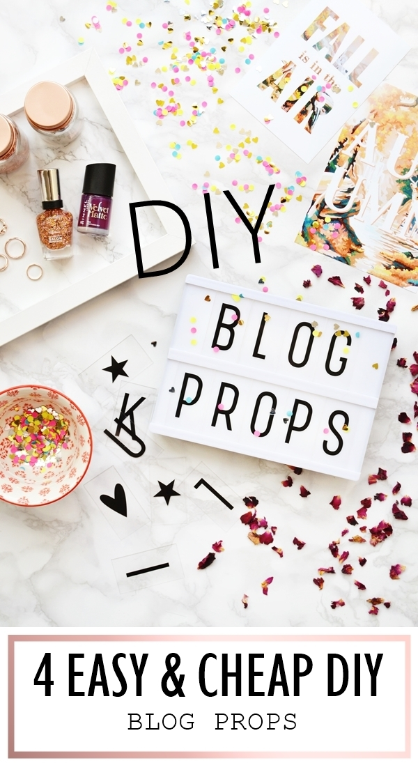4 Cheap & Easy DIY Blog Props | Makeup Savvy | Bloglovin'