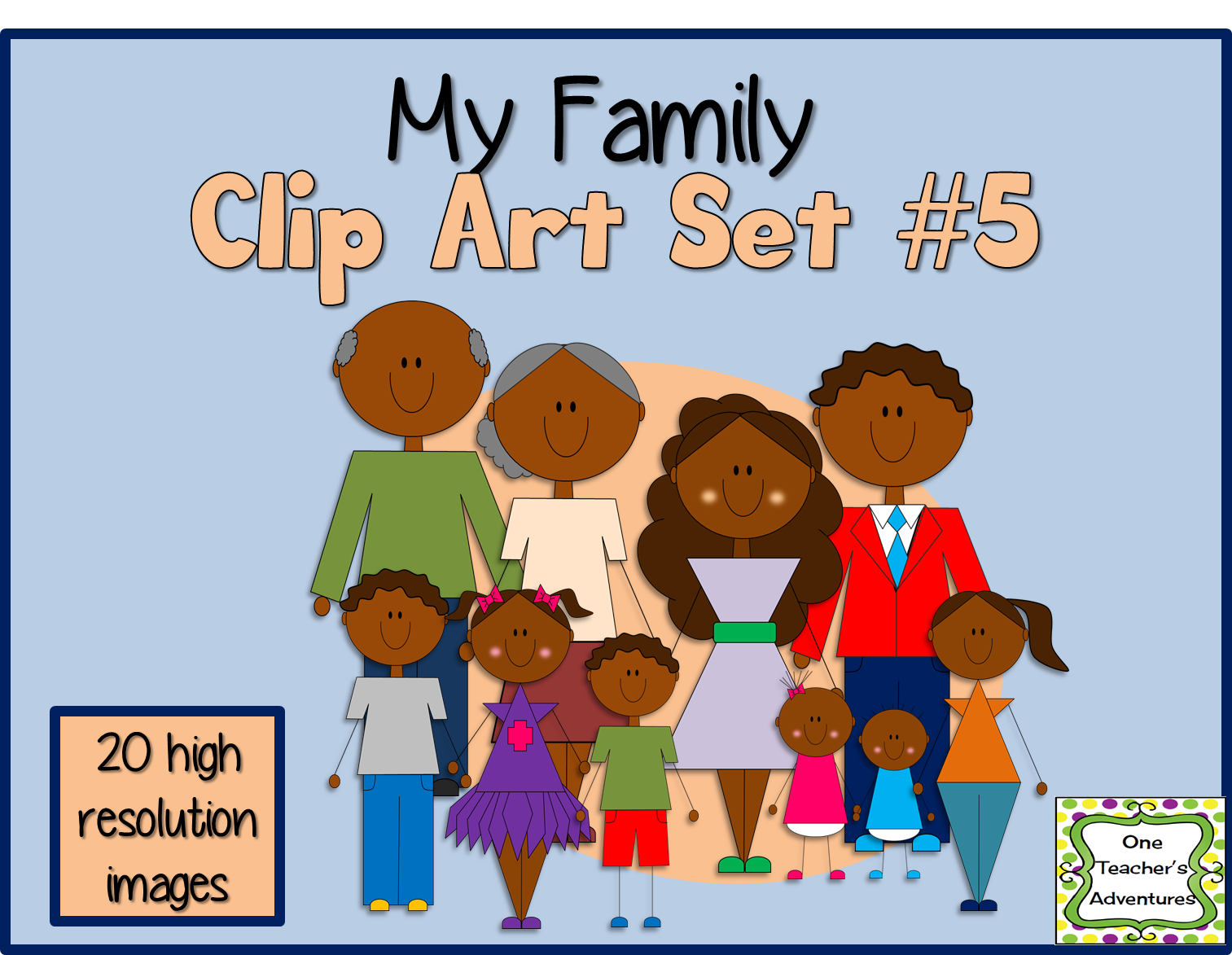 http://www.teacherspayteachers.com/Product/My-Family-Clip-Art-Set-5-1393398