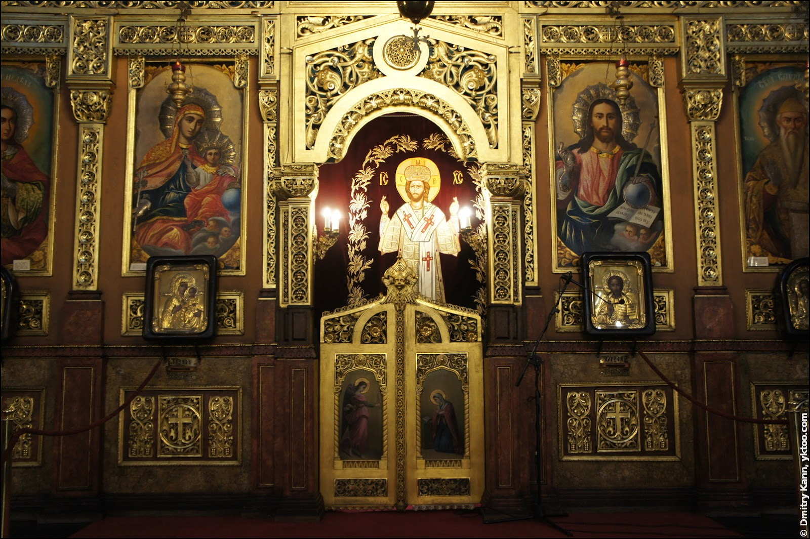 The inside of St Nedelya.