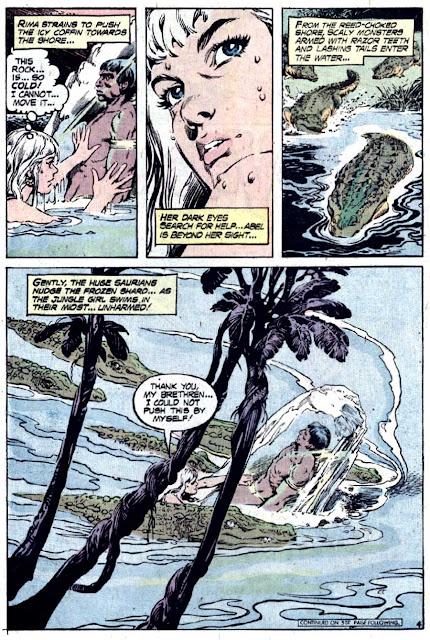 Rima the Jungle Girl v1 #5 dc bronze age comic book page art by Nestor Redondo