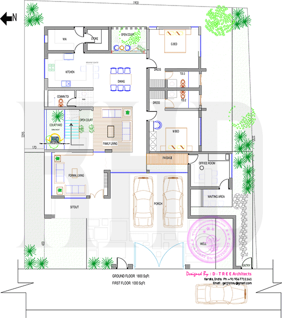 Floor plan Kerala home design