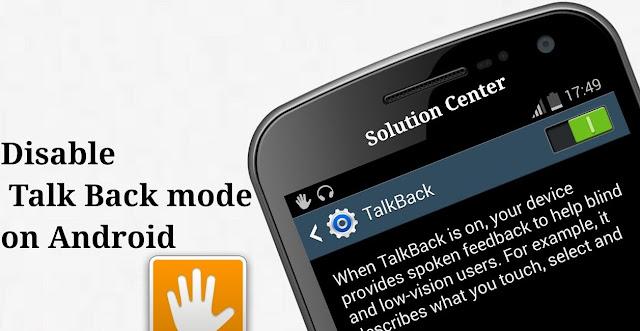 Cara Menonaktifkan Talkback Hp Vivo