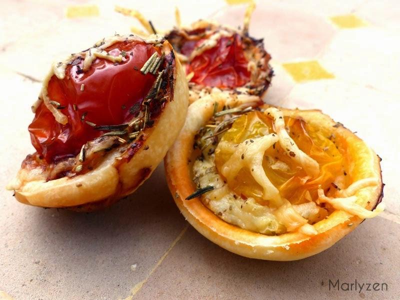 Mini tartelettes aux tomates cerise et chorizo