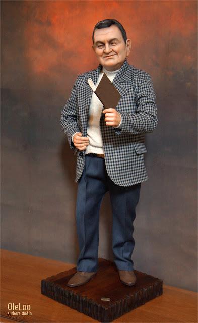 oleloo портретная кукла по фотографии на заказ на юбилей свадьбу подарок руководителю эксклюзивный подарк на юбилей ручная работа . Кукла из полимерной глины  по фотографии, скульптура