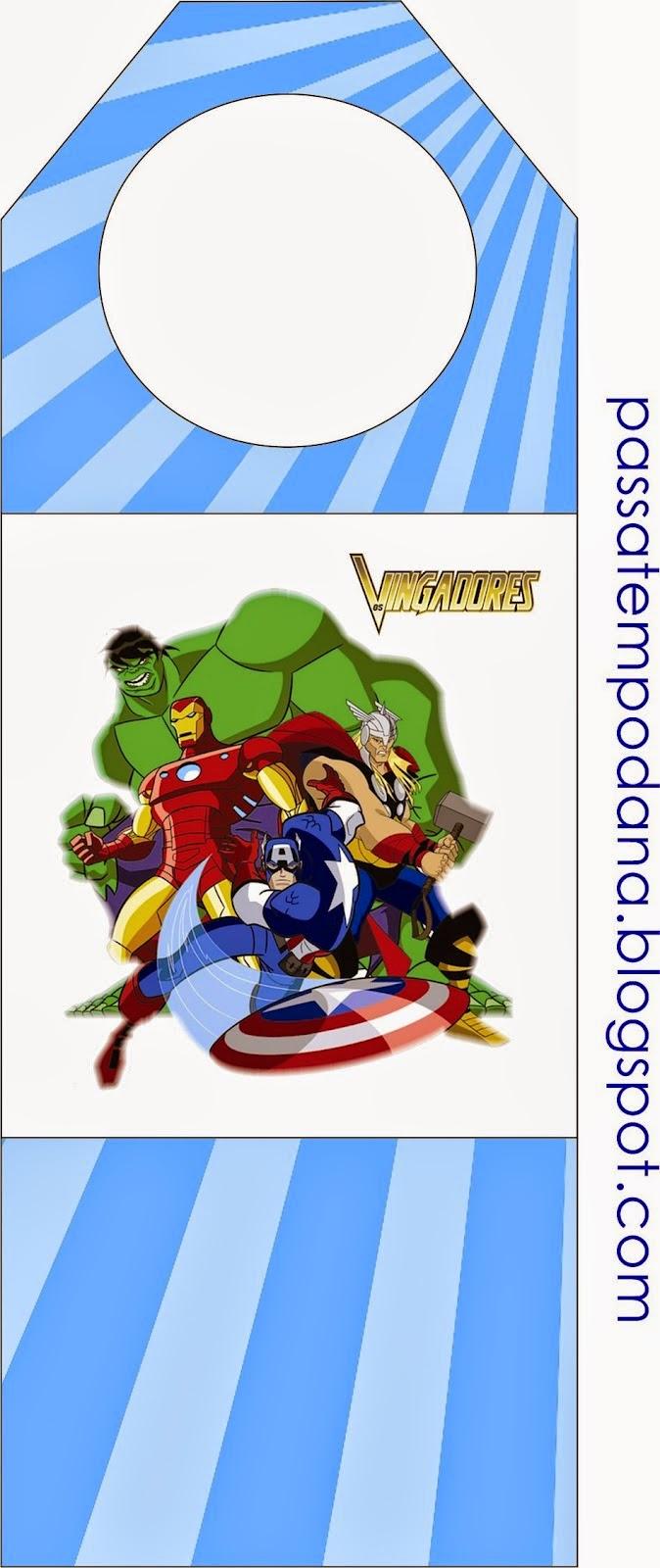 Marcapaginas para Imprimir Gratis de los Vengadores.