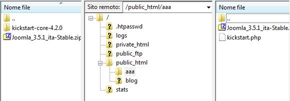 upload filezilla joomla