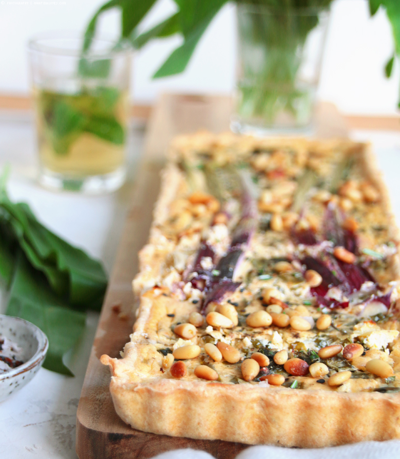 Wild Garlic Tarte | whatinaloves.com
