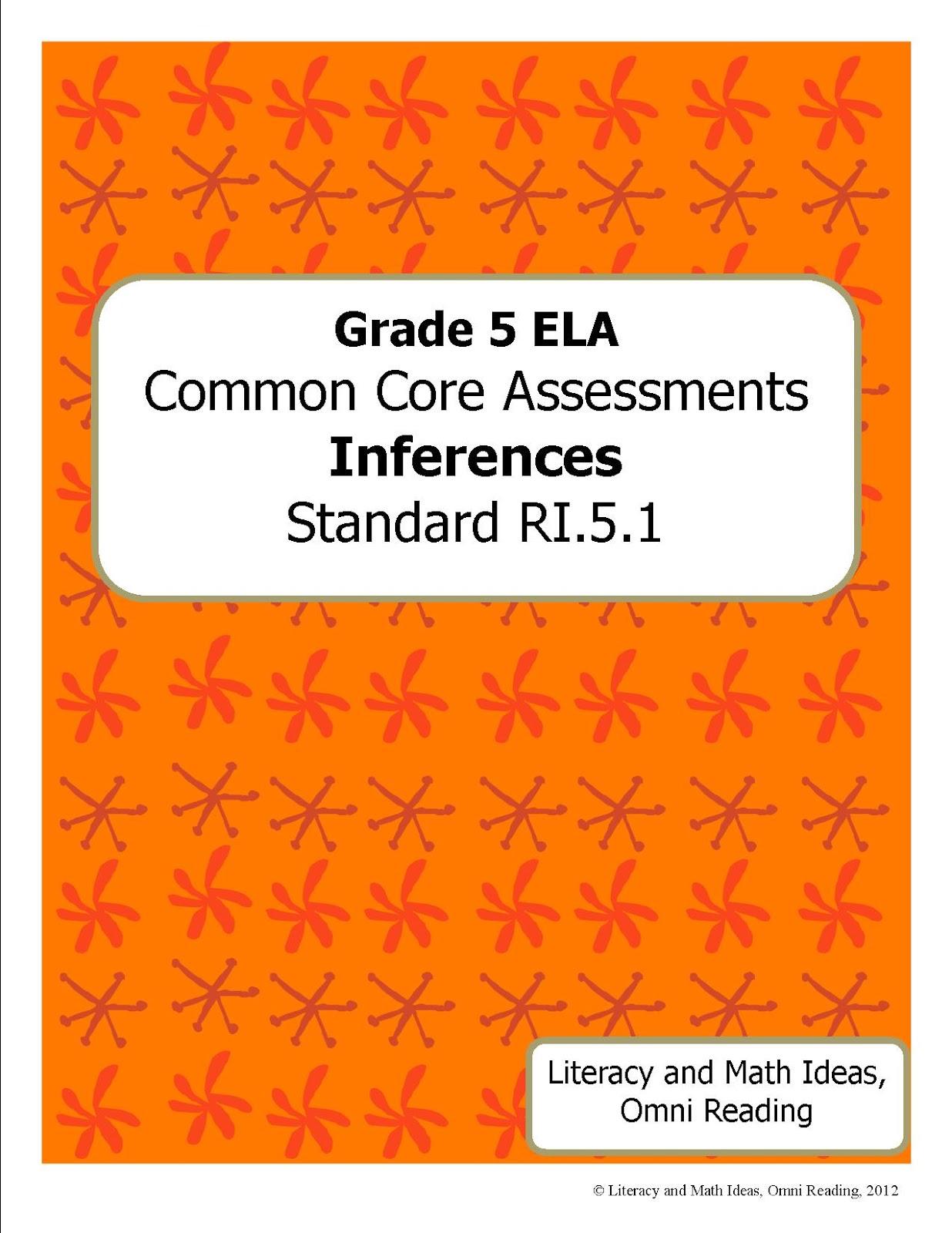 Literacy Amp Math Ideas Grade 5 Common Core Assessments