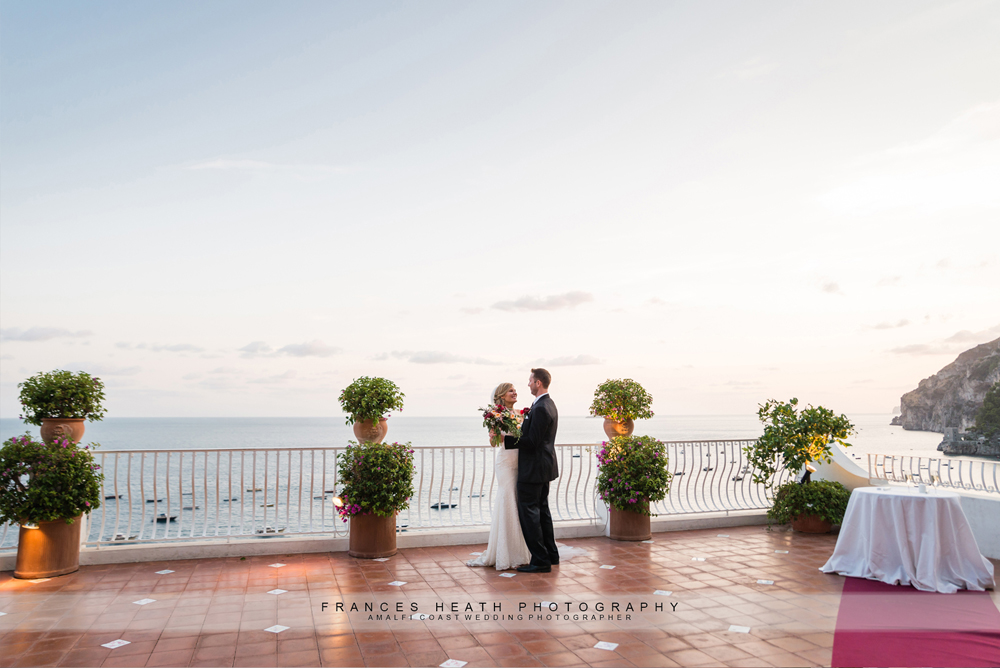 Sunset Positano wedding