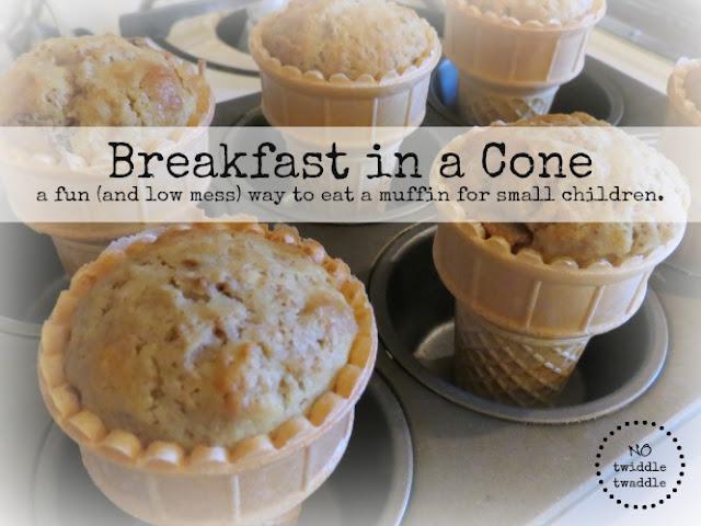 breakfast muffin cone