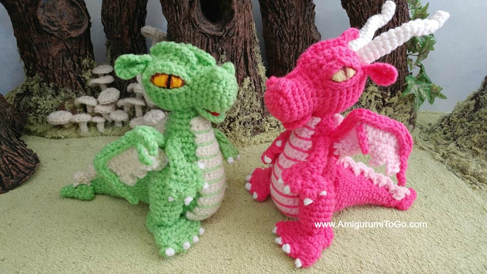 Small But Mighty Dragon Printable Pattern On One Page Amigurumi To Go