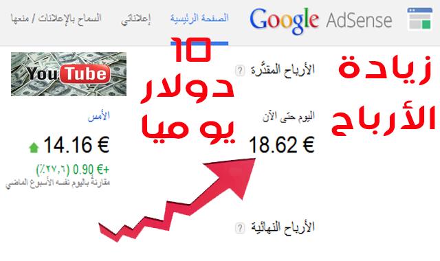 اسرار الربح من اليوتيوب زيادة ارباح اليوتيوب زيادة ارباح adsense