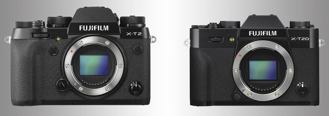 Сравнение Fujifilm X-T2 и X-T20
