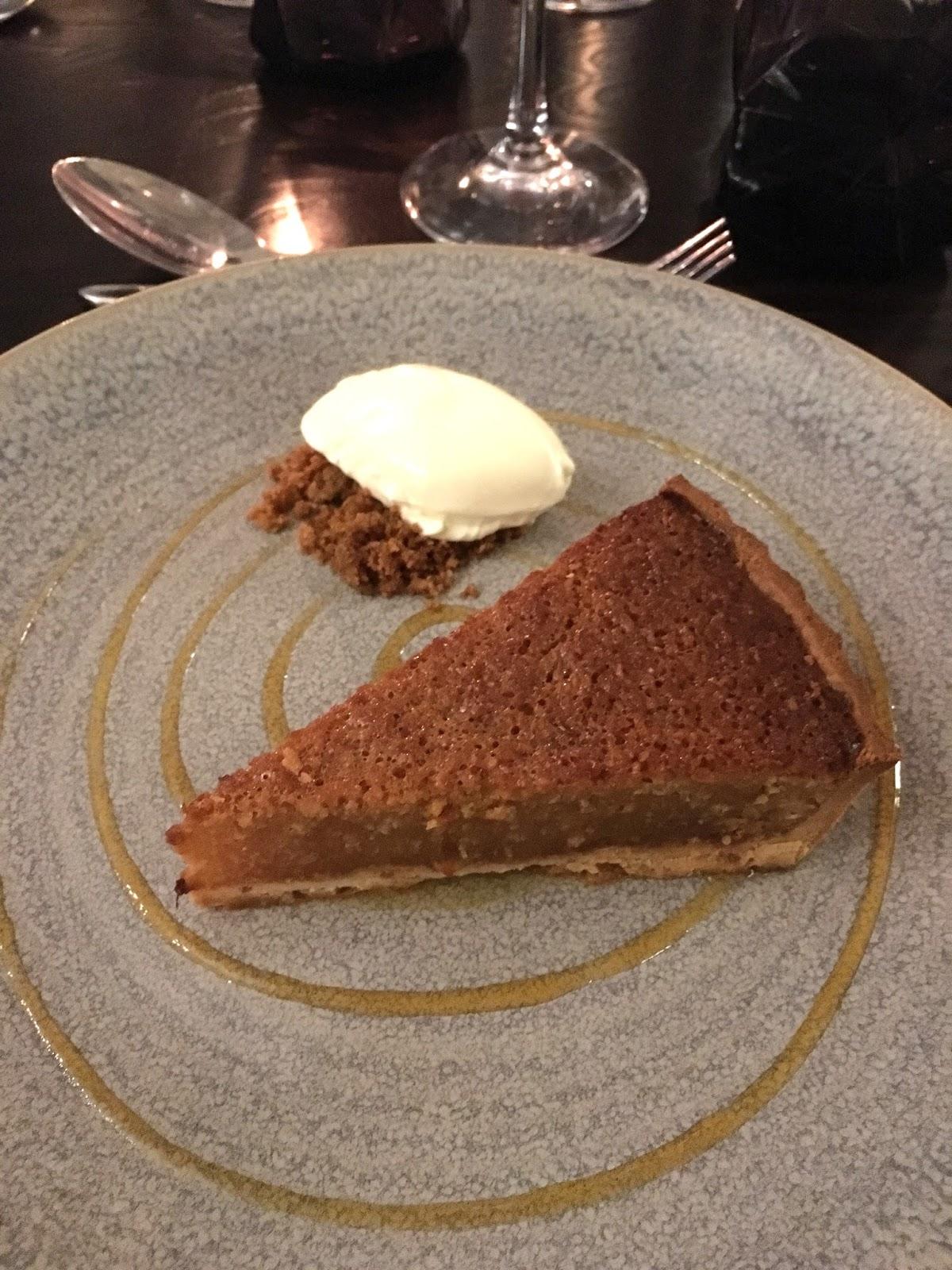 Prime restaurant, Stirk House, Gisburn,treacle tart dessert