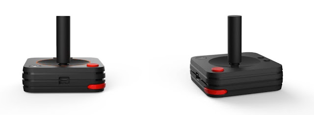 Modelo clássico do joystick do novo console Atari CVS
