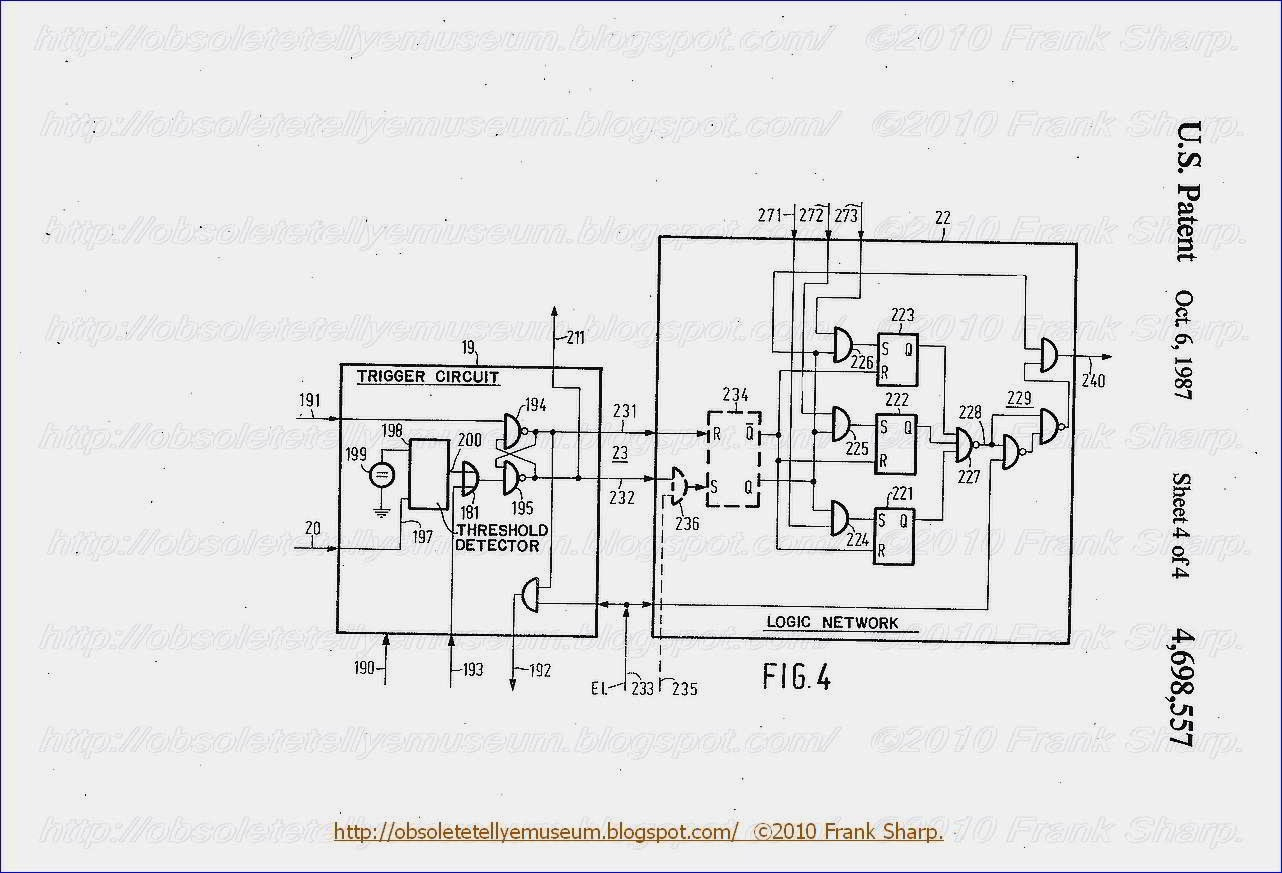 Obsolete Technology Tellye Grundig Super Color C8402 Serie F3026 Activebandrejectfilter Filtercircuit Basiccircuit Circuit Fig 4 Shows An Embodiment For A Trigger 19 And Logic Network 22 Of The Arrangements As Shown In Figs 1 Or 2