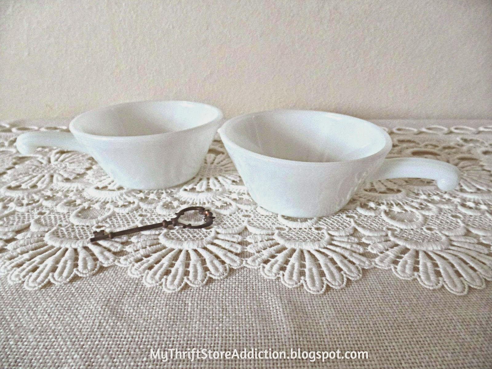 Vintage Fire-Kink handled bowls