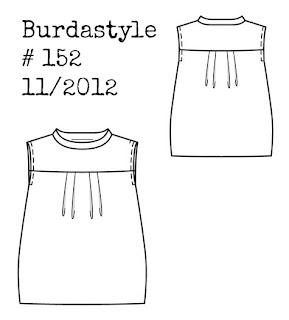 Burdastyle 152: A silk feather print shift dress