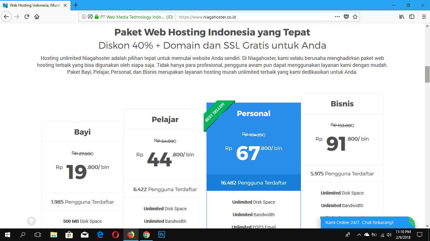 Niagahoster, Layanan Web Hosting Terbaik di Indonesia Saat Ini