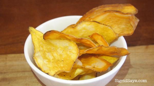 camote chips Merkado organic restaurant